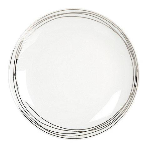 RJR.John Rocha - Platinum etched dessert plate