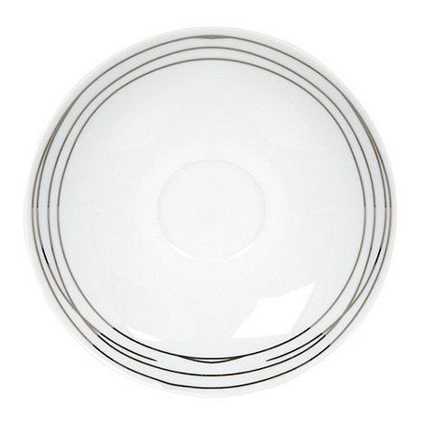 RJR.John Rocha - Platinum etched tea saucer
