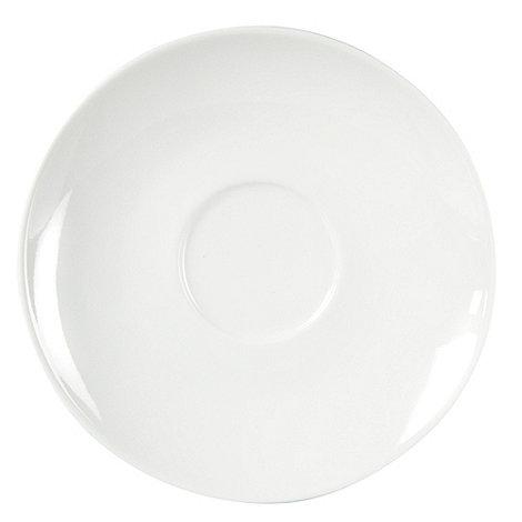 J by Jasper Conran - White +Audley+ tea saucer