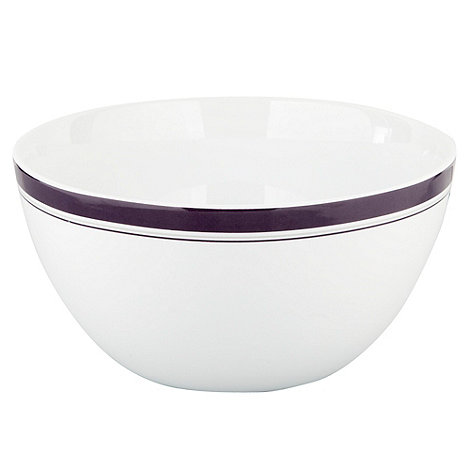 J by Jasper Conran - White +Edbury+ large bowl