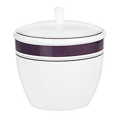 J by Jasper Conran - White 'Ebury' lidded sugar bowl