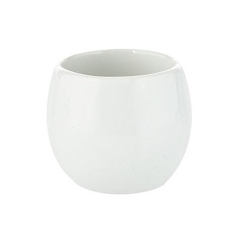 Ben de Lisi Home - White +Dine+ porcelain egg cup