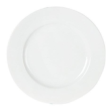 Ben de Lisi Home - White +Dine+ porcelain dessert plate