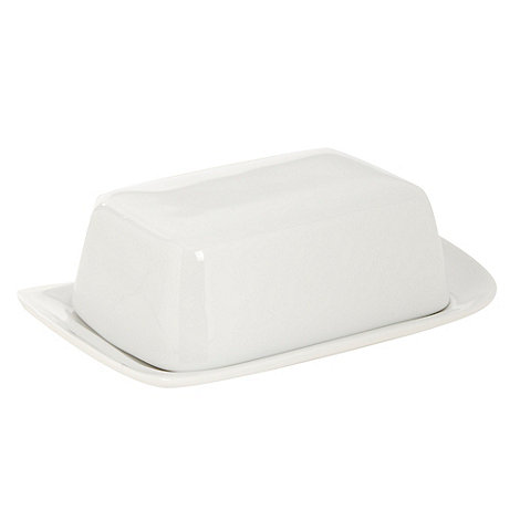 Ben de Lisi Home - White +Dine+ butter dish