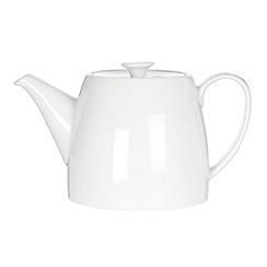 Ben de Lisi Home - White glazed 'Dine' teapot