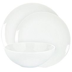 Ben de Lisi Home - White 'Dine' coupe 12 piece dinner set