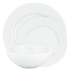 Ben de Lisi Home - White 'Dine' rimmed 12 piece dinner set