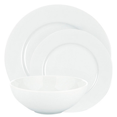 Ben de Lisi Home - White +Dine+ rimmed 12 piece dinner set