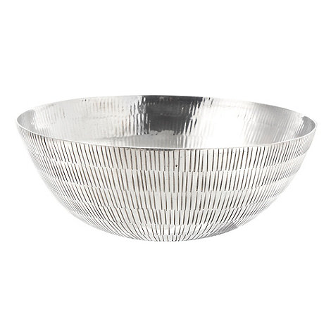 RJR.John Rocha - Silver large etched metal bowl