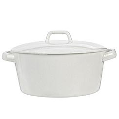 Ben de Lisi Home - Porcelain 19.5cm 'Dine' casserole dish