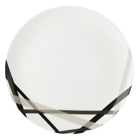 Ben de Lisi Home - White +Brooklyn+ cross dinner plate