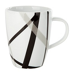 Ben de Lisi Home - White 'Brooklyn' cross mug