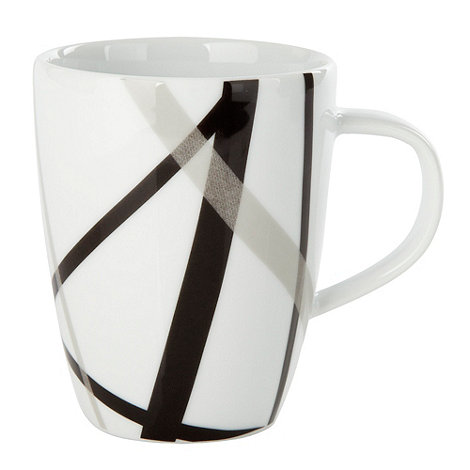 Ben de Lisi Home - White +Brooklyn+ cross mug