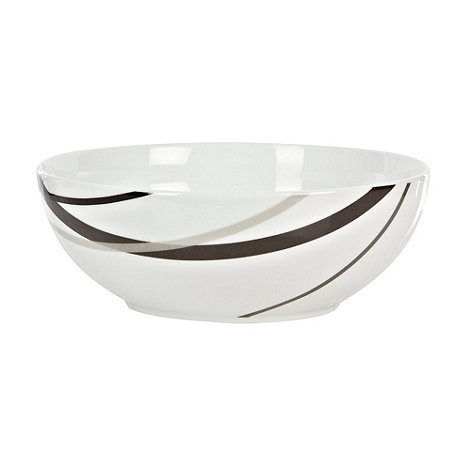 Ben de Lisi Home - White +Brooklyn+ large bowl