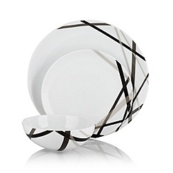 Ben de Lisi Home - White 'Brooklyn' 12 piece dinner set