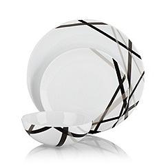 Ben de Lisi Home - White 'Brooklyn' 12 piece dinner set