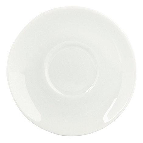 Ben de Lisi Home - Porcelain +Dine+ espresso saucer