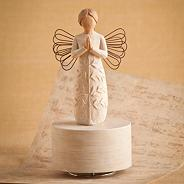 Natural 'A Tree, A Prayer' musical figurine