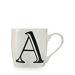 Home Collection - White 'A' letter mug
