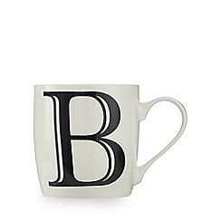 Home Collection - White 'B' letter mug