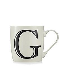Home Collection - White 'G' letter mug