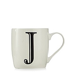 Home Collection - White 'J' letter mug