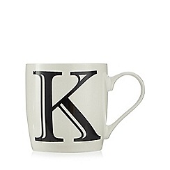 Home Collection - White 'K' letter mug