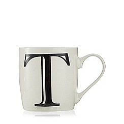 Home Collection - White 'T' letter mug