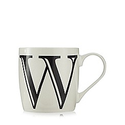 Home Collection - White 'W' letter mug