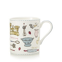 At home with Ashley Thomas - White baking print mug