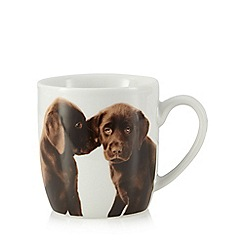Home Collection - White chocolate Labrador print mug