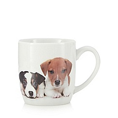 Home Collection - White 'Jack Russell' puppy print mug