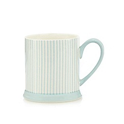 At home with Ashley Thomas - Aqua striped print mug