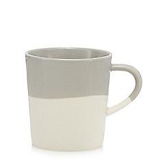 Home Collection - Grey half dipped mug