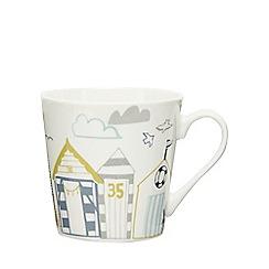 Home Collection - Multi-coloured beach hut print mug