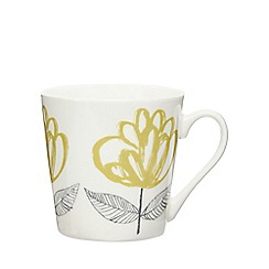 Home Collection - Yellow floral print mug