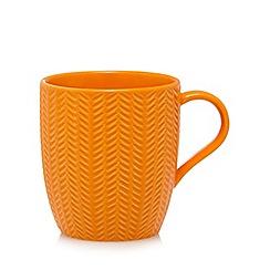 Home Collection - Orange textured mug