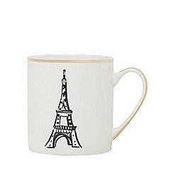 Home Collection - Cream Eiffel tower print mug