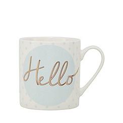Home Collection - White 'Hello' print mug