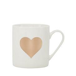 Home Collection - White heart print mug