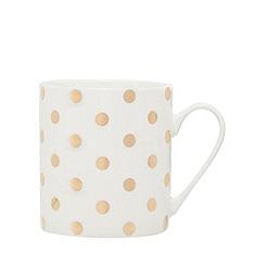 Home Collection - White polka dot print mug