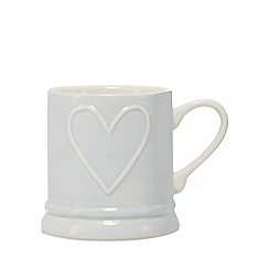 Home Collection - Grey heart tankard mug
