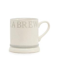 Home Collection - cream stoneware 'Take a brew' mug