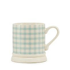 Home Collection - Blue gingham tankard mug