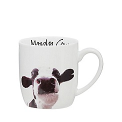 Home Collection - White 'Moody Cow' mug