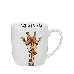Home Collection - White 'What's Up' giraffe mug