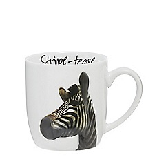 Home Collection - White 'Stripe-tease' zebra mug