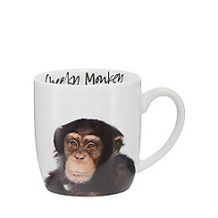 Home Collection - White 'Cheeky Monkey' monkey mug