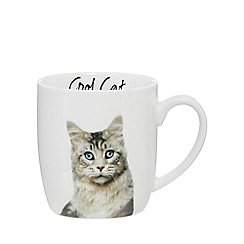 Home Collection - White 'Cool Cat' mug