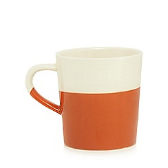 Home Collection - Dipped burnt orange and cream mug
